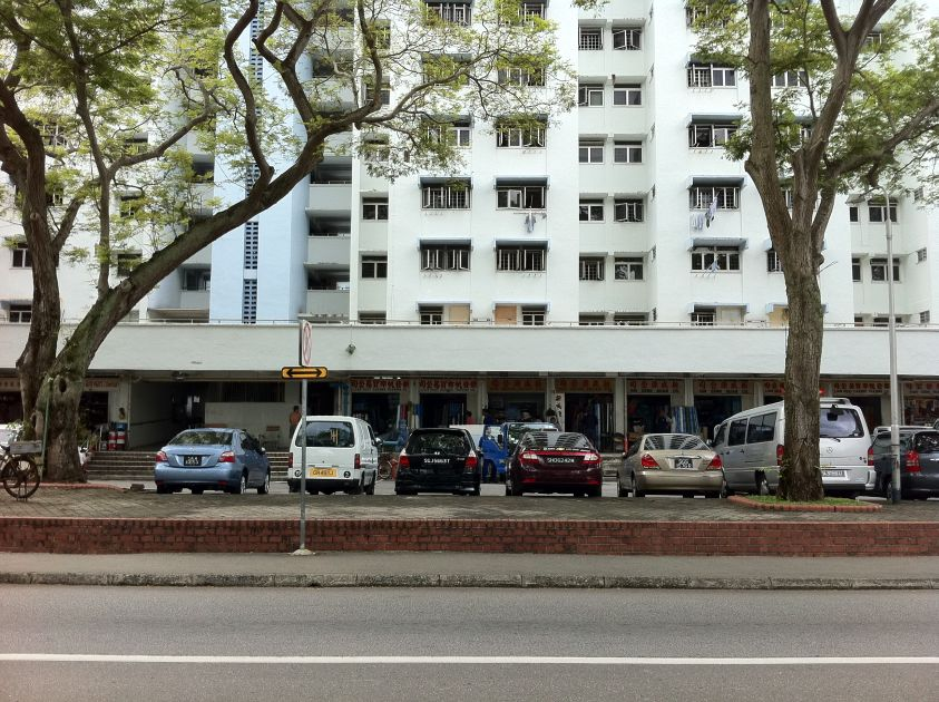 Open Air Carpark Right in Front of Our Block