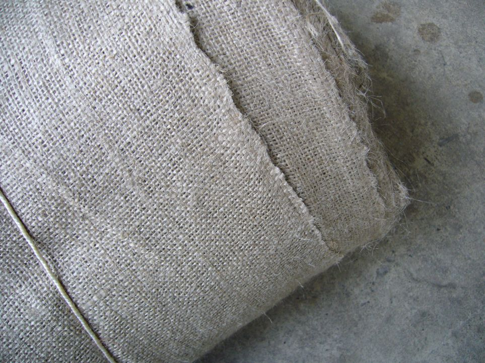 Burlap fabric closeup